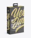 Kraft Paper Box with Hang Tab Mockup - Half Side View (high-angle shot)