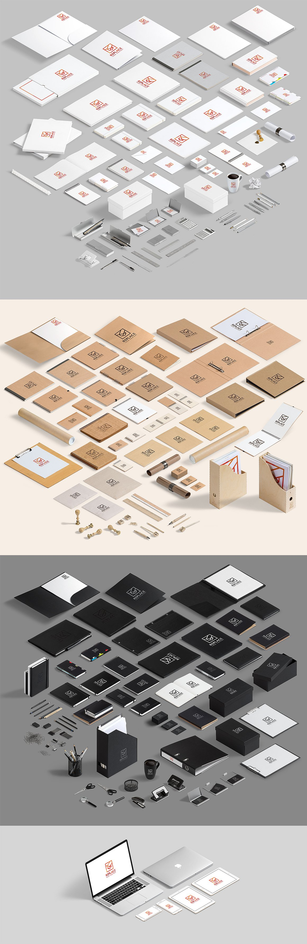 Download Isometric Stationery Mock Up Generator In Stationery Mockups On Yellow Images Creative Store PSD Mockup Templates