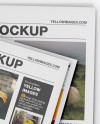 Newspaper Mockup - Top View