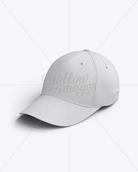 Baseball Cap Mockup / Halfside View