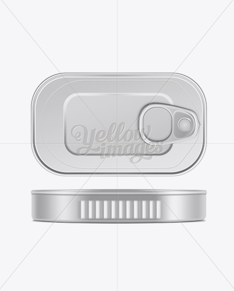 Download Fish Can W Pull Tab Mockup In Can Mockups On Yellow Images Object Mockups PSD Mockup Templates