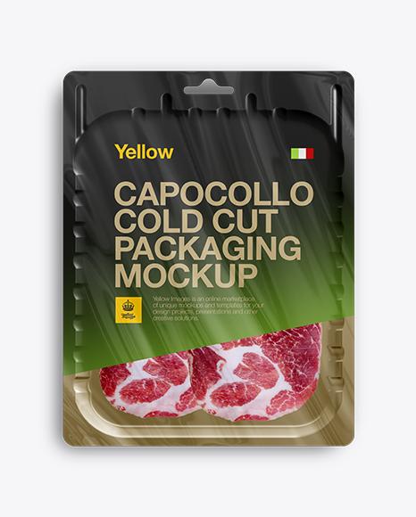 Vacuum Tray W/ Sliced Capicola Mock-up