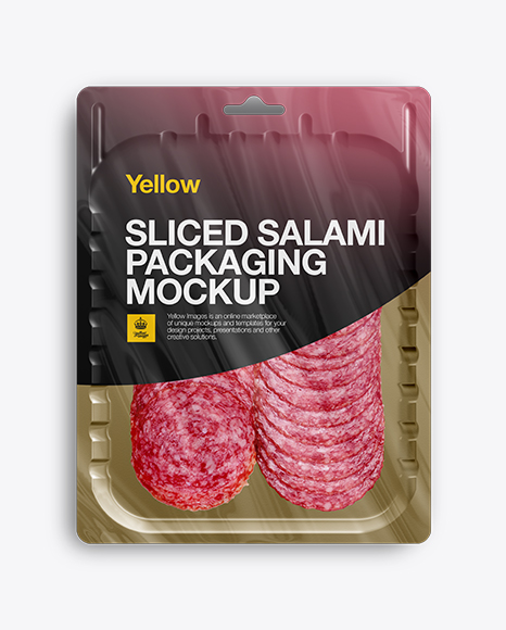 Vacuum Tray W/ Sliced Winter Salami Mock-up