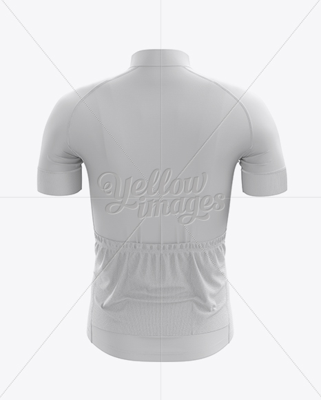 Men's Cycling Jersey Mockup - Back View