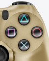 DualShock 4 Controller With Metallic Finish Mockup - Front View