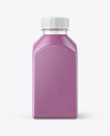 Square Blueberry Smoothie Bottle Mockup