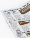 Newspaper Mockup - Half Side View (High-Angle Shot)