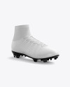 Cuffed Soccer Cleat mockup (Half Side View)