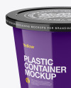 Glossy Plastic Container Mockup (High-Angle Shot)