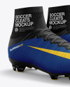 Cuffed Soccer Cleats mockup (Half Side View)