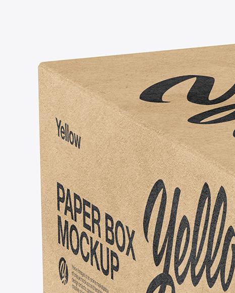 Download Kraft Paper Box Mockup Halfside View High Angle Shot PSD - Free PSD Mockup Templates