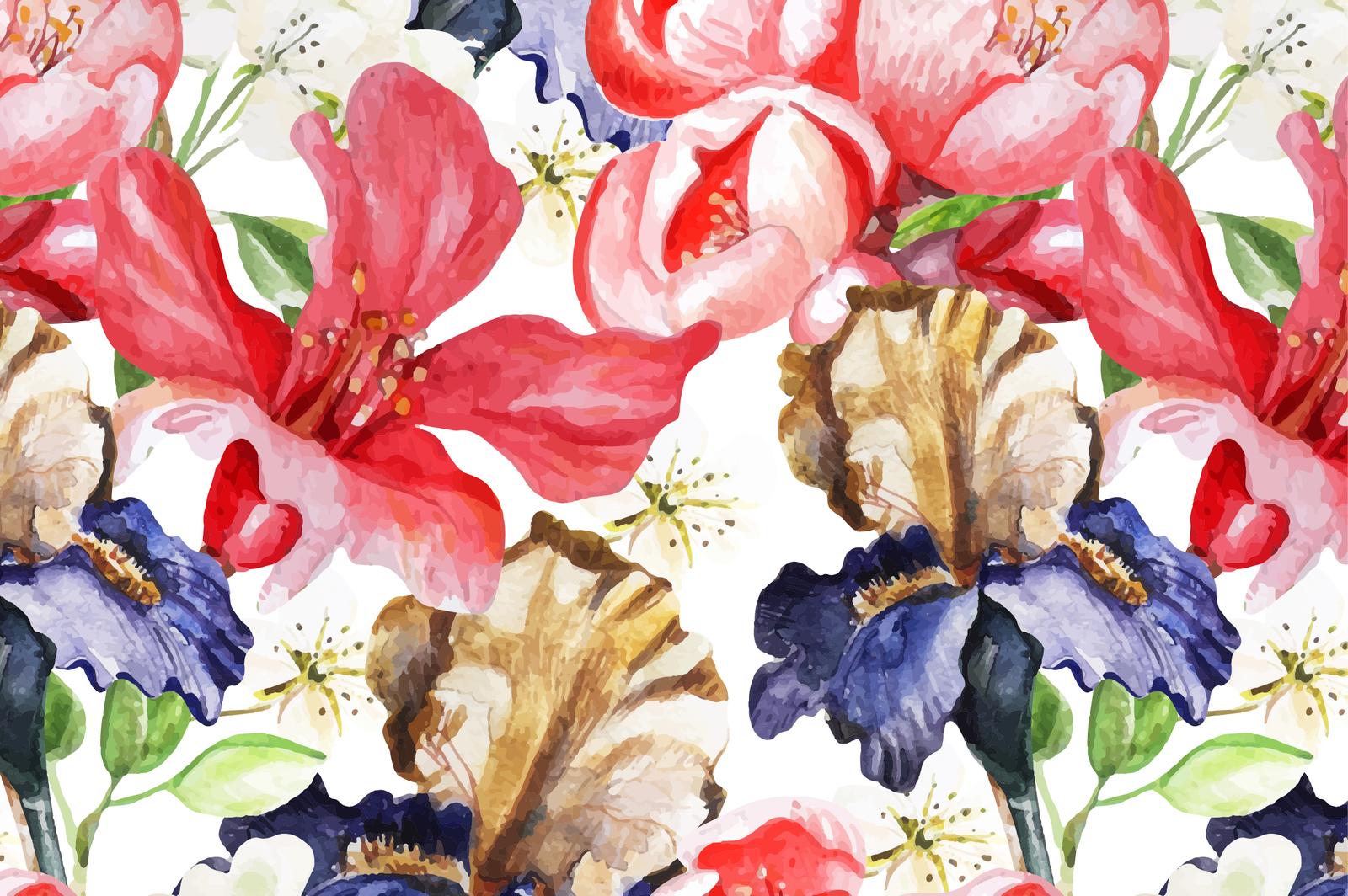 Beautiful watercolor flowers