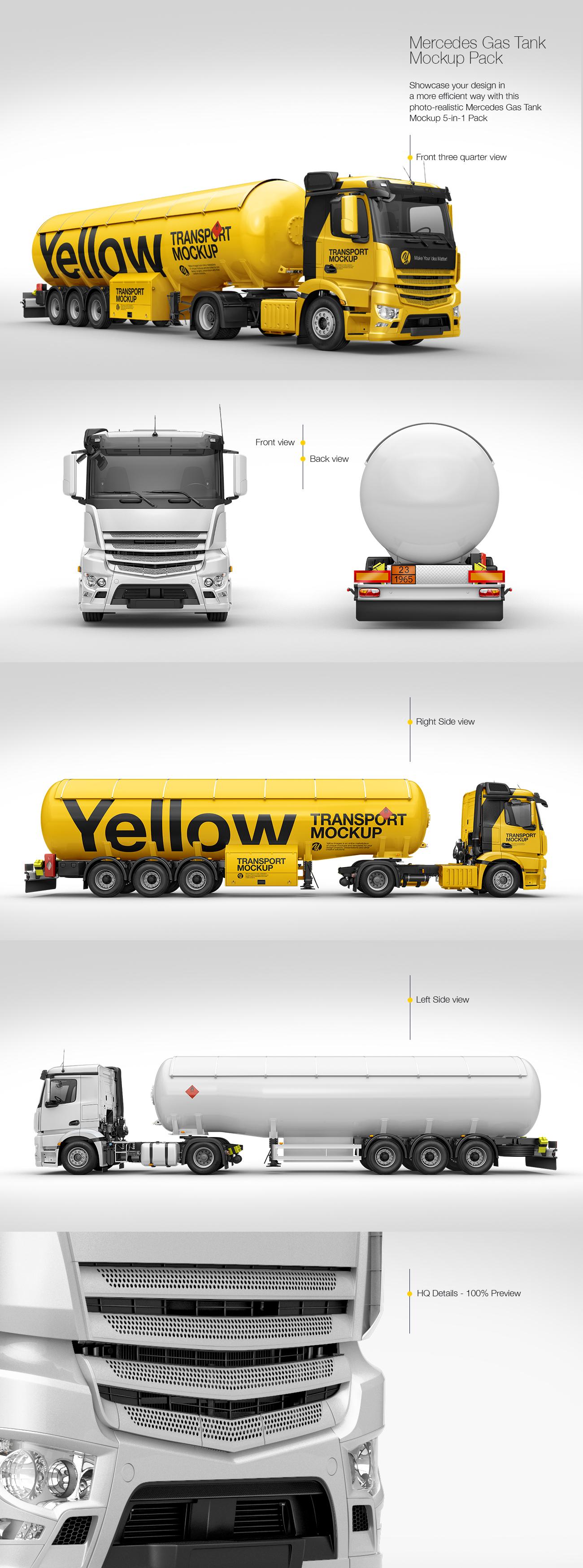 Mercedes-Benz Gas Tank Mockup Pack