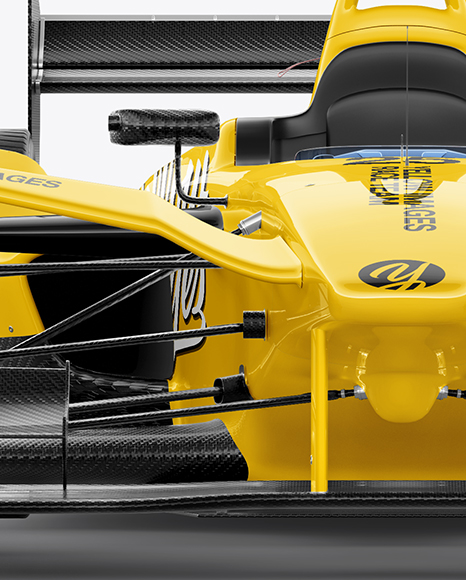 Download Formula E Racing Car 2016 Mockup Front View In Vehicle Mockups On Yellow Images Object Mockups PSD Mockup Templates
