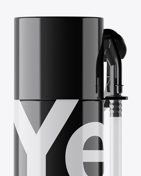 Pu-Foam Glossy Spray 500ml Can Mockup