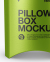 Metallic Fast Food Pillow Box Mockup