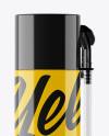 750ml Pu-Foam Glossy Spray Can Mockup