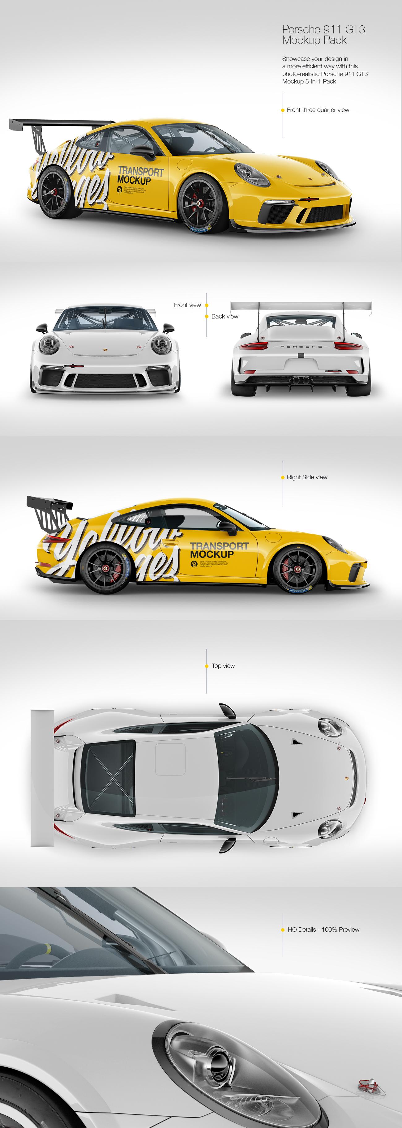 Porsche 911 GT3 Mockup Pack