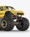 Monster Truck Mockup - Half Side View