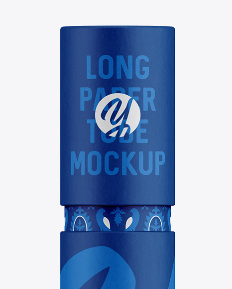 Long Paper Tube Mockup – Front View