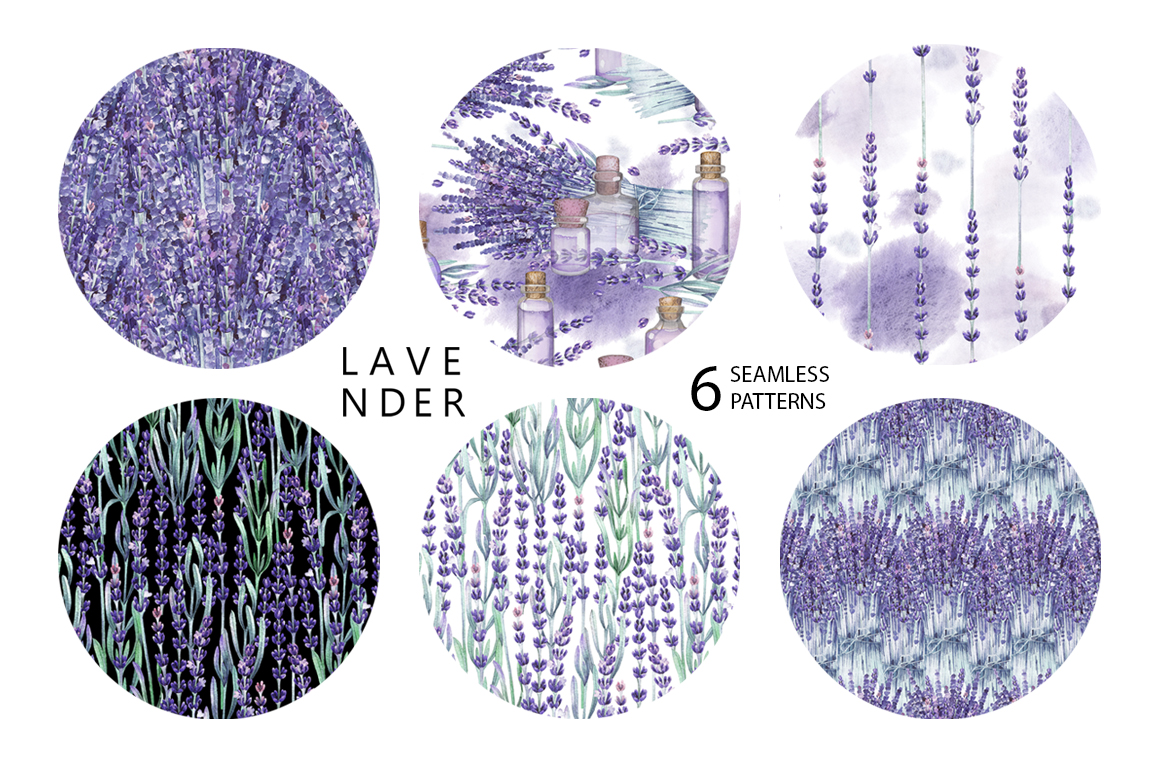 Watercolor lavender collection