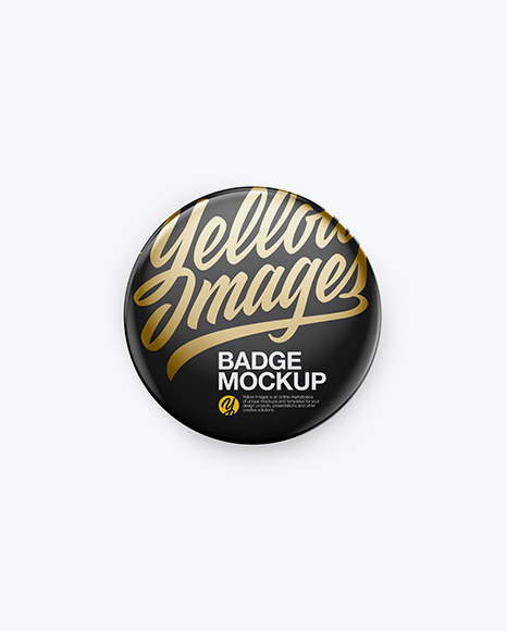 Button Pin Mockup - Front & Back Views