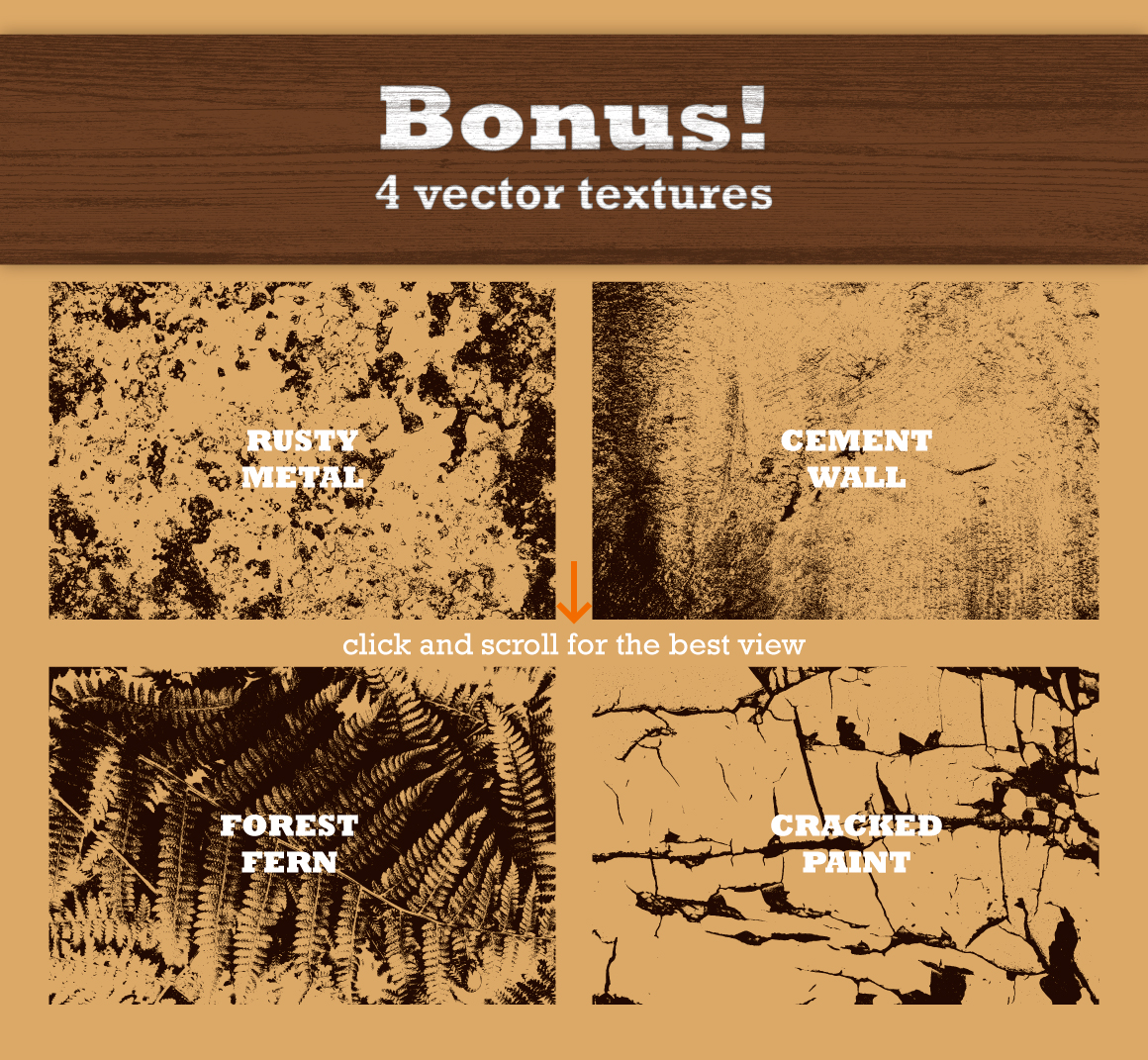 18 Real Wood Vector Textures