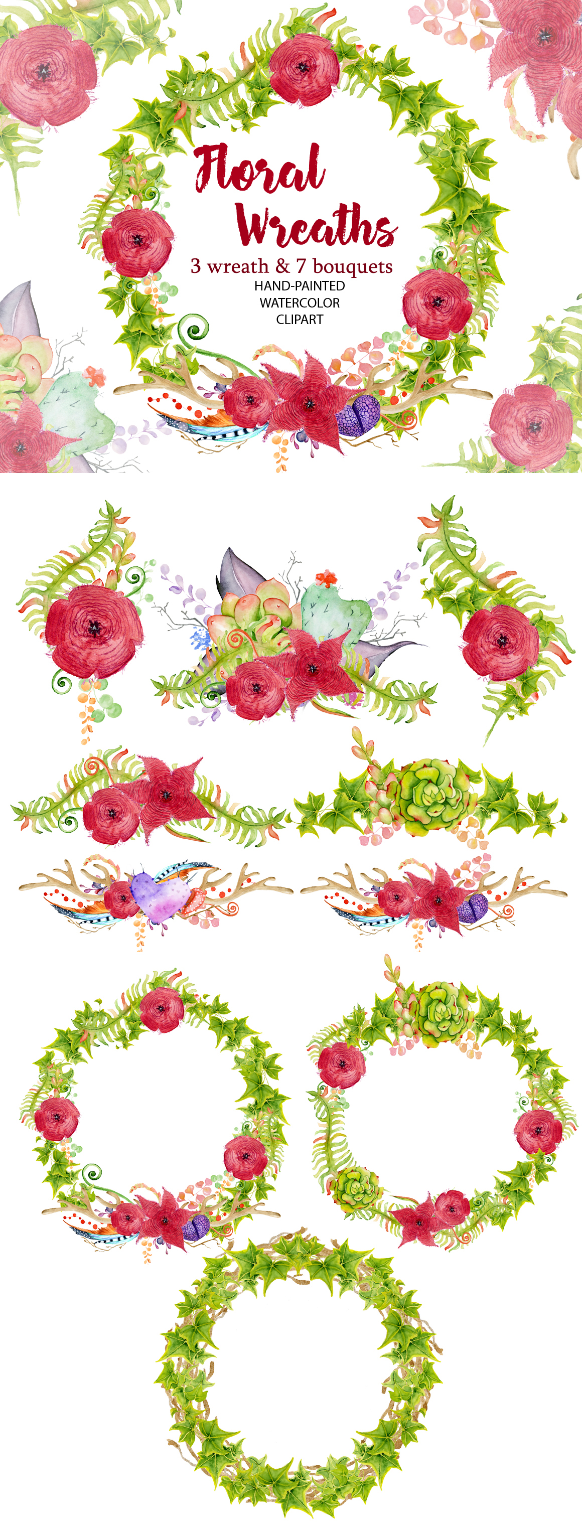 Floral Wreath clipart