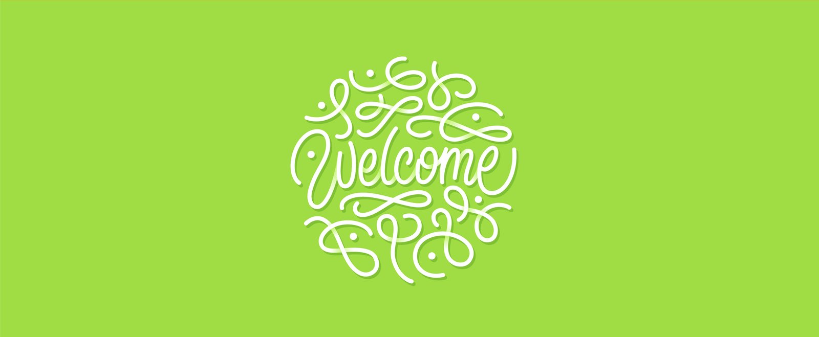 Welcome lettering bundle