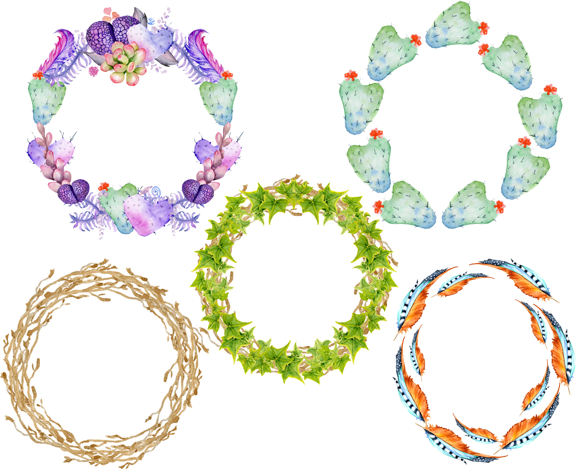 Boho Succulents and cactus Wreaths