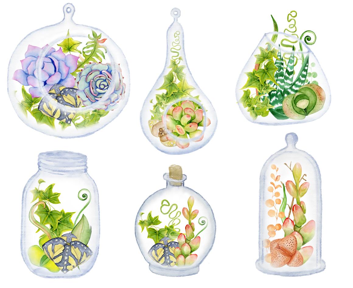 Succulents terrarium creator Vol.2