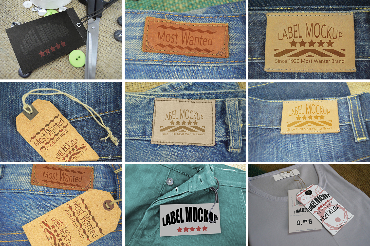 Download Label Mockups Bundle In Apparel Mockups On Yellow Images Creative Store PSD Mockup Templates
