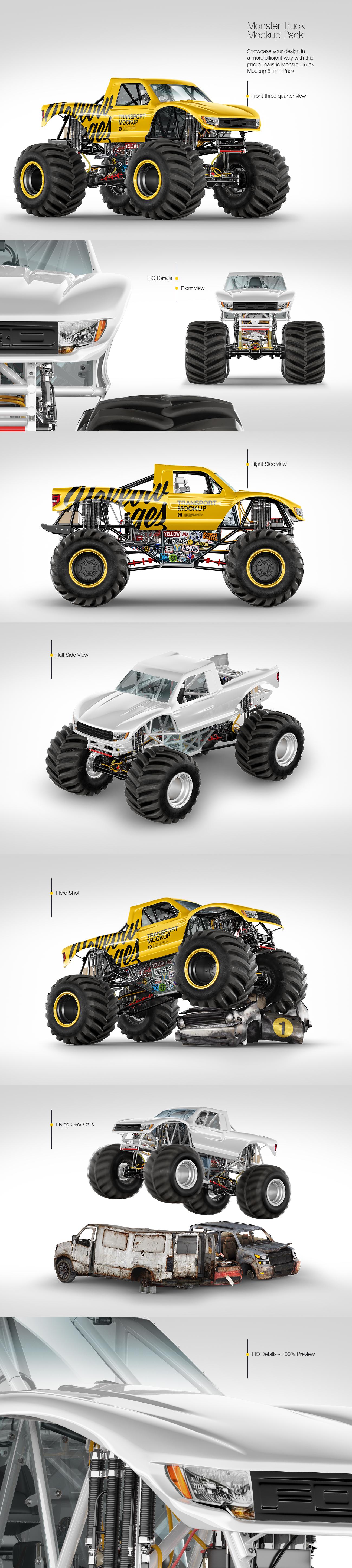 Monster Truck Mockup Pack