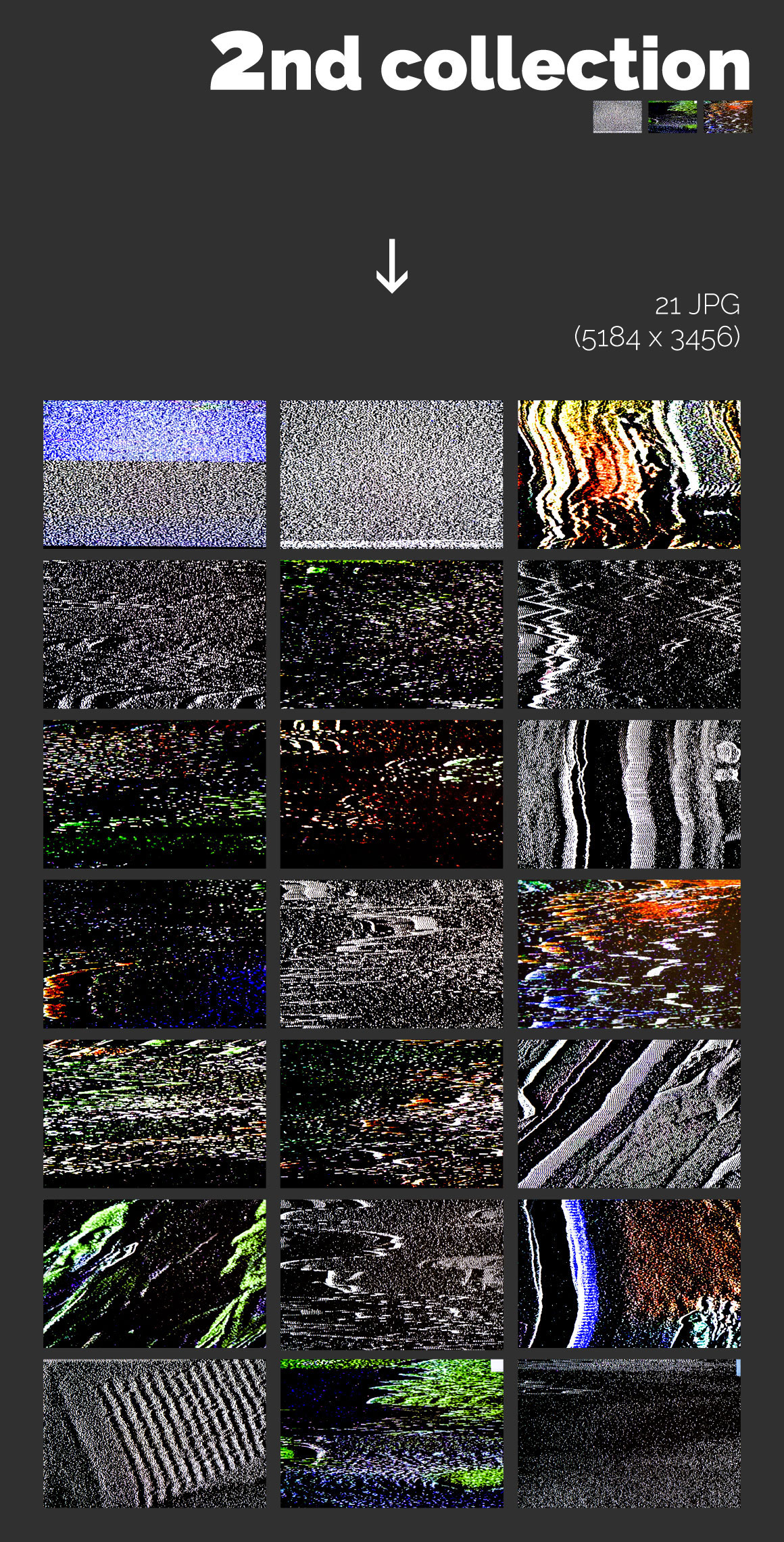 60 Abstract TV Glitch Textures