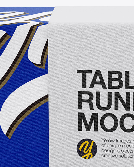 Tablecloth with Table Runner Mockup