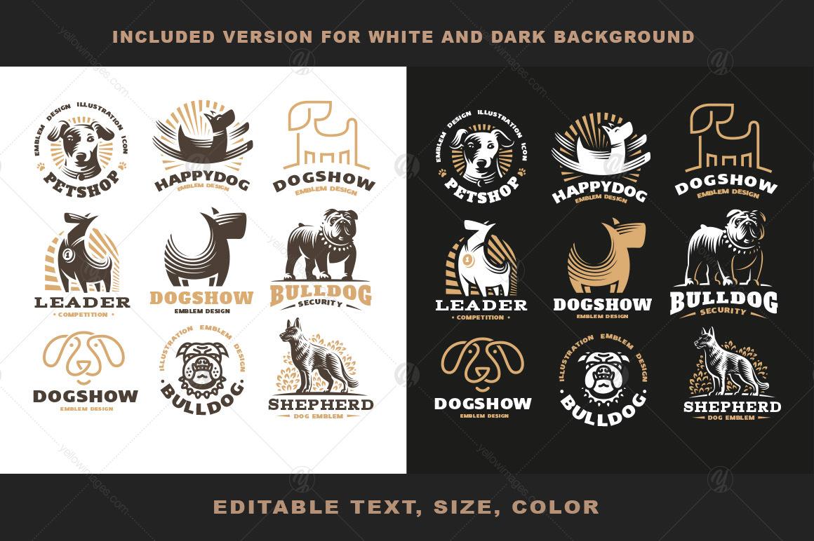 Dog logo set