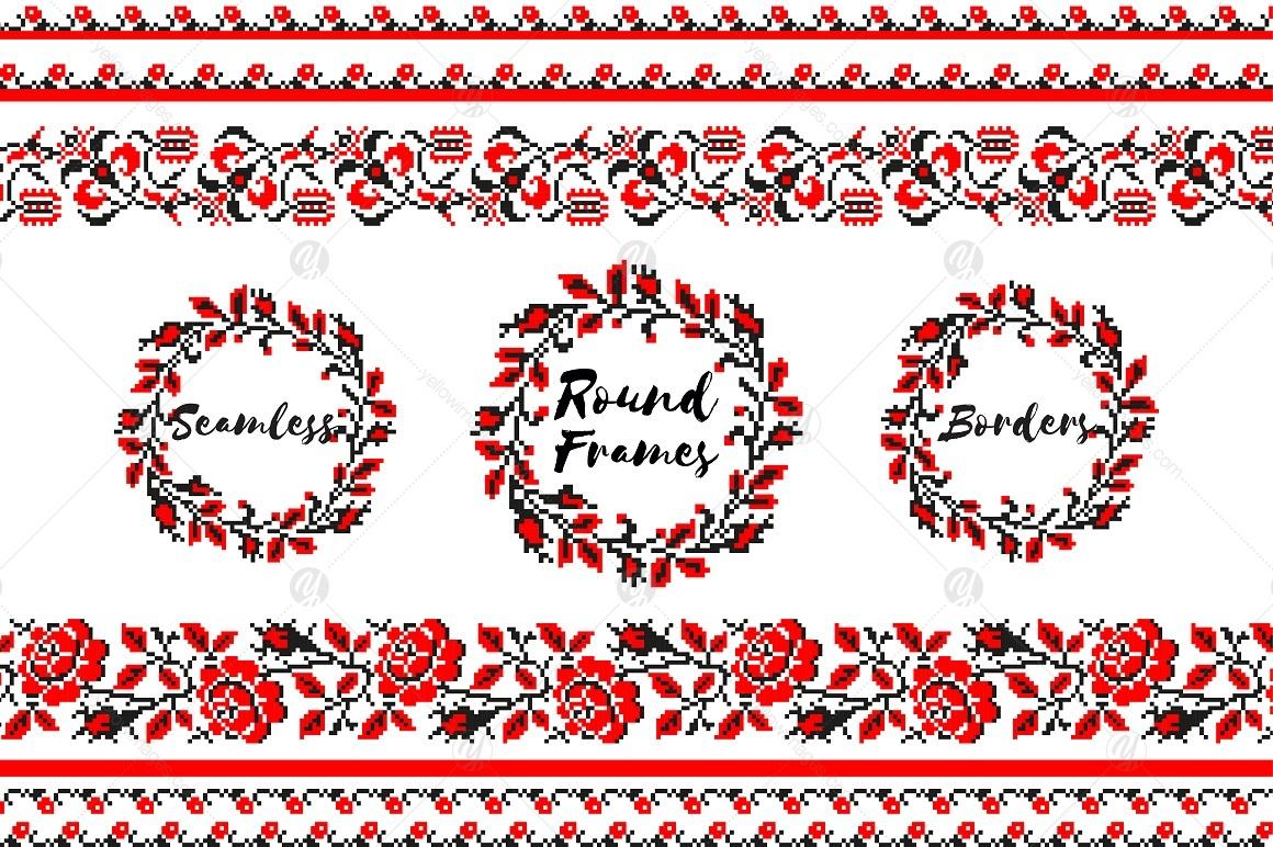 Ukrainian Embroidery: Brushes&Frames