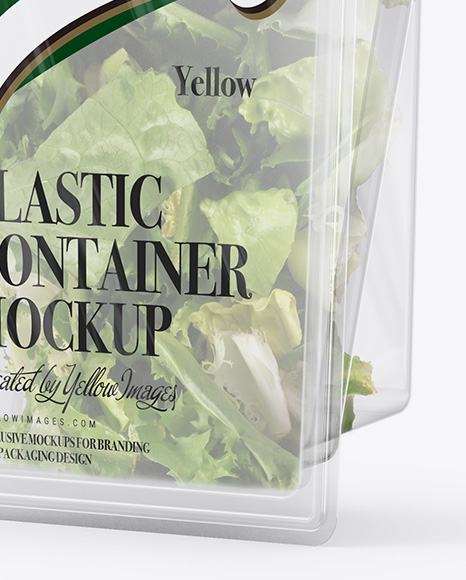 Transparent Container Mockup - Half Side View