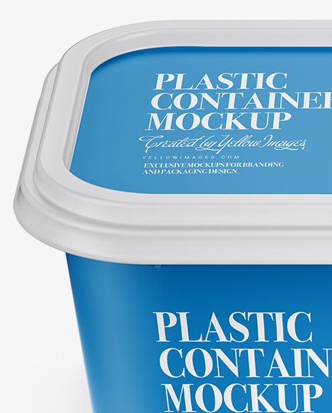 Matte Plastic Container Mockup (High-Angle Shot)