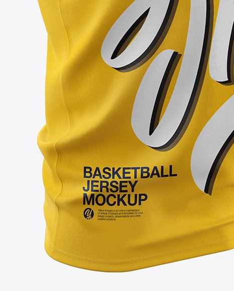 Basketball Jersey Mockup - Half Side View