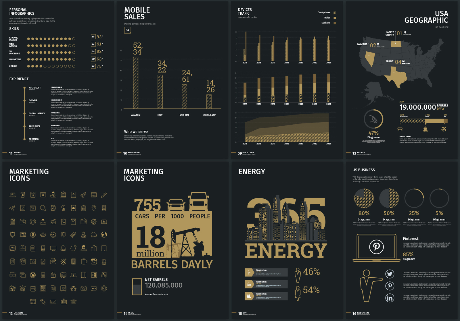 Business infographics kit