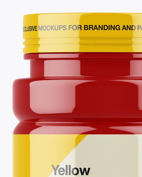 Glossy Pills Bottle Mockup