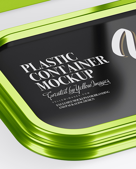 Download Metallic Container Mockup Half Side View PSD - Free PSD Mockup Templates