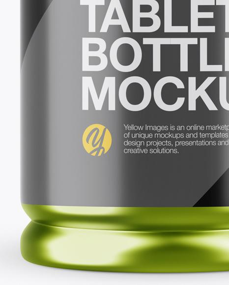 Matte Metallic Pills Bottle Mockup