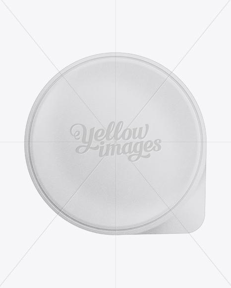 150g Yogurt Cup W/ Foil Lid Mockup