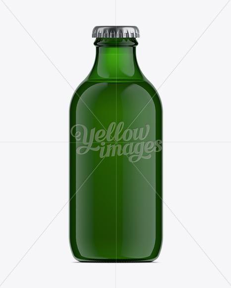 250ml Stubby Green Glass Beer Bottle Mockup
