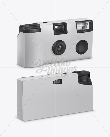Single Use Photo Camera Mockup