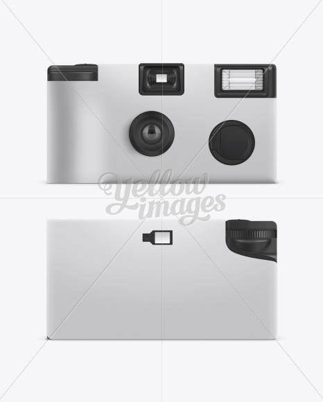 Disposable Photo Camera Mockup