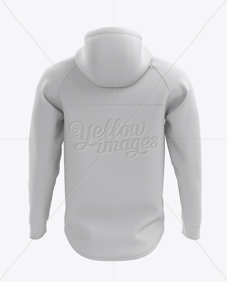 Hoodie with Zipper Mockup - Back View