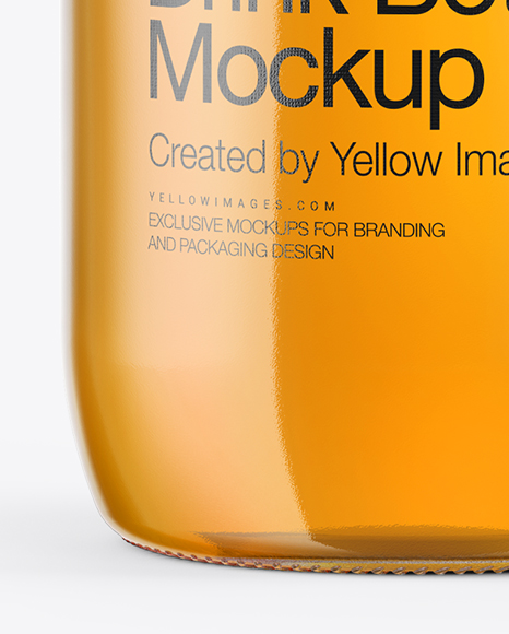 330ml Glass Bottle with Soft Drink Mockup